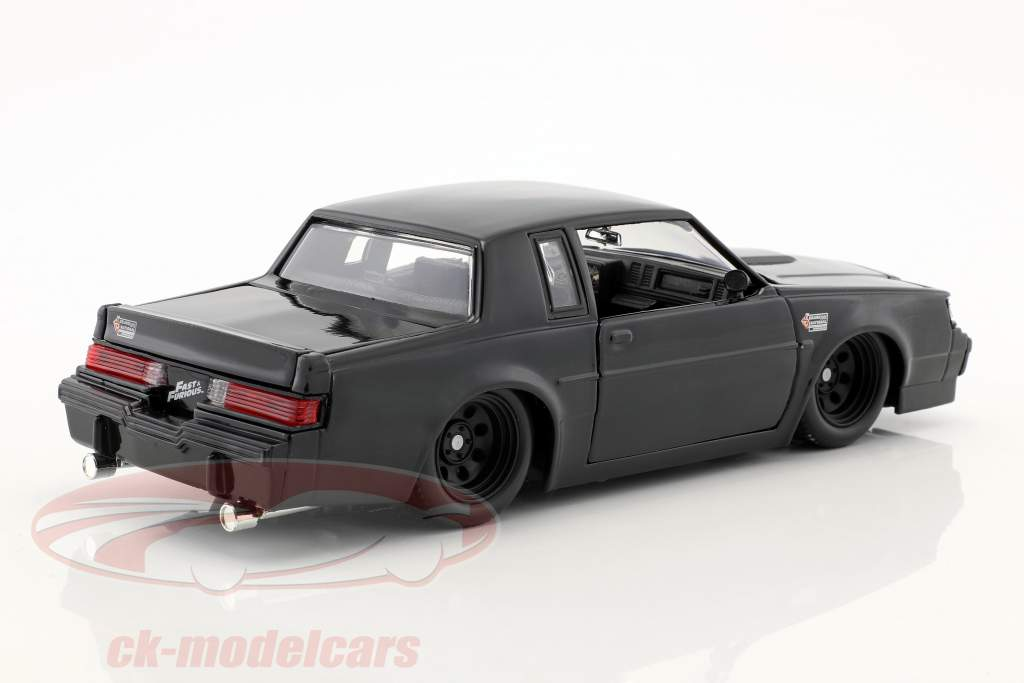 Dom's Buick Grand National année de construction 1987 film Fast & Furious (2009) noir 1:24 Jada Toys