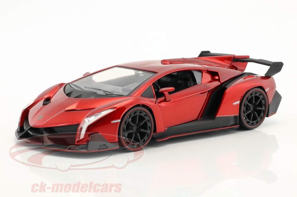 Lamborghini Veneno Baujahr 2017 candy rot 1:24 Jada Toys