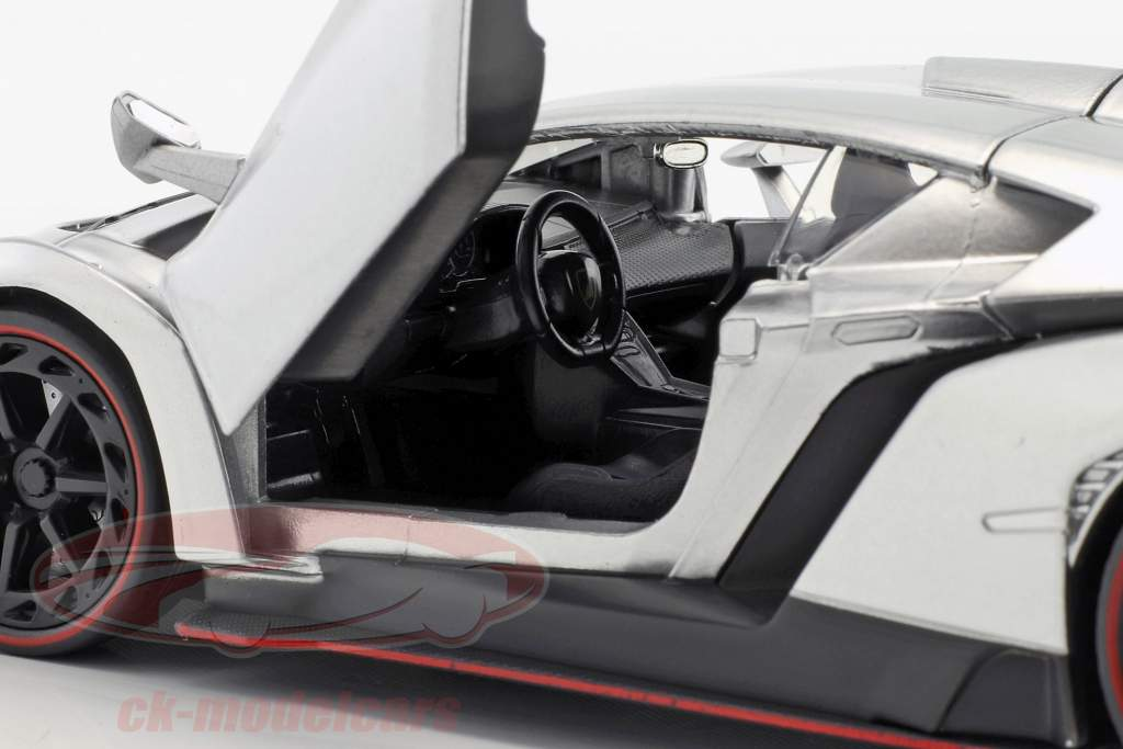 Lamborghini Veneno Baujahr 2017 candy silber 1:24 Jada Toys
