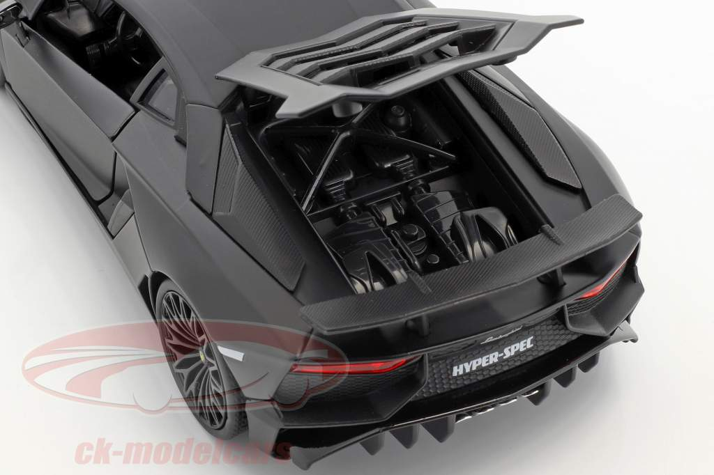 Lamborghini Aventador SV année de construction 2017 natte noir 1:24 Jada Toys