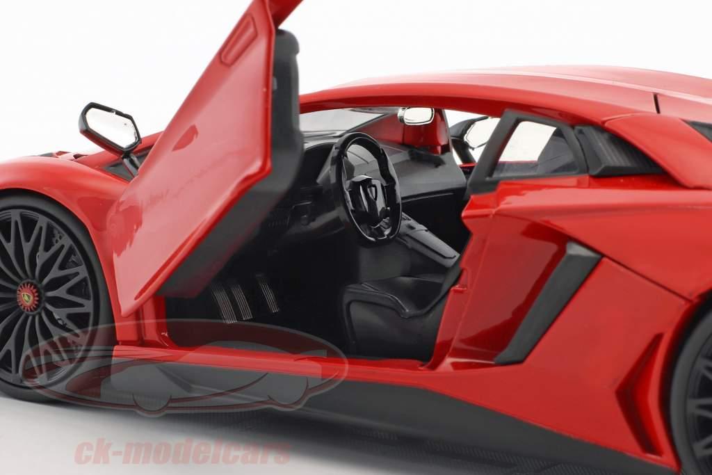Lamborghini Aventador SV year 2017 red 1:24 Jada Toys