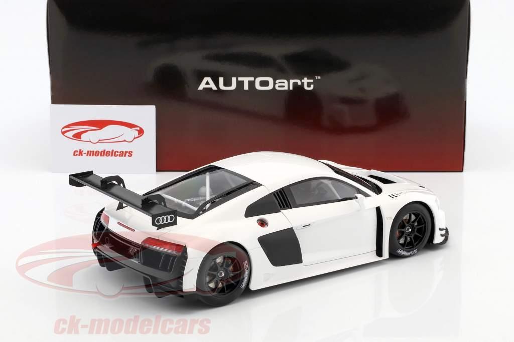Audi R8 LMS Plain Body Version Baujahr 2016 weiß 1:18 AUTOart
