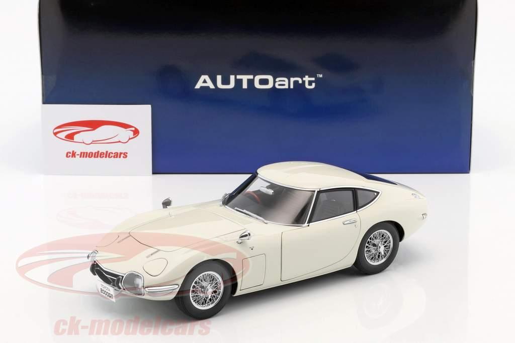 Toyota 2000GT coupe con raggio cerchioni anno di costruzione 1965 bianco 1:18 AUTOart