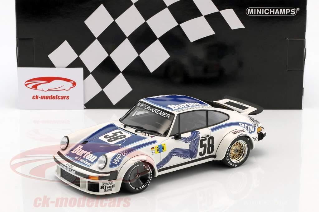 Porsche 934 Kremer Racing #58 vincitore Gr.4 24h LeMans 1977 Wollek, Gurdjan, Steve 1:18 Minichamps