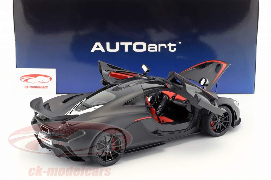 McLaren P1 anno di costruzione 2013 tappetino nero / rosso 1:12 AUTOart