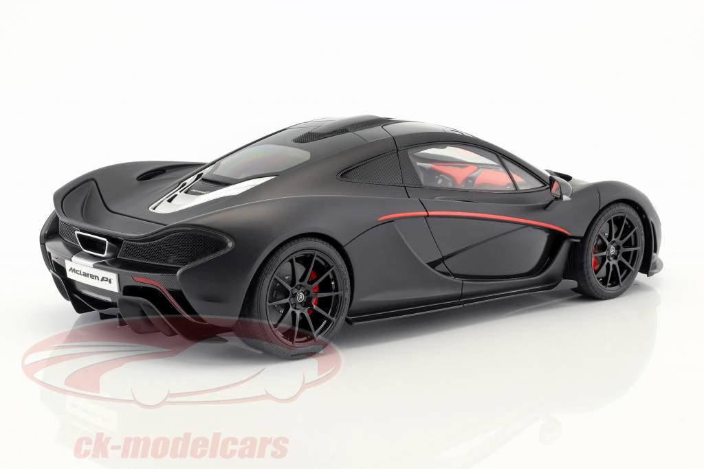 McLaren P1 Baujahr 2013 mattschwarz / rot 1:12 AUTOart