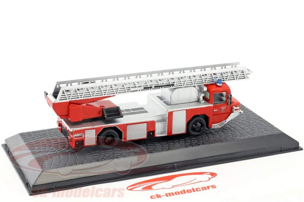 Iveco Magirus DLK 23-12 N.B. anno di costruzione 1980 vigili del fuoco Kaufering rosso 1:72 Altaya