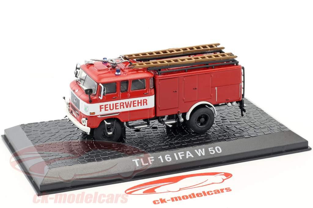 IFA W 50 TLF 16 brandvæsen rød 1:72 Altaya