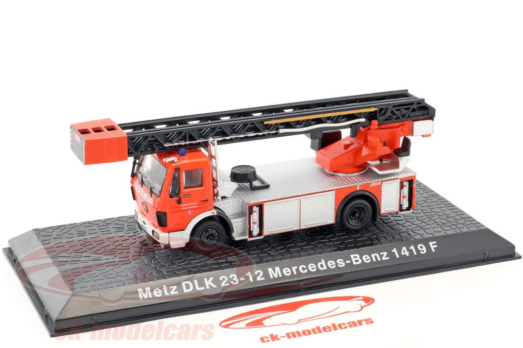 Mercedes-Benz 1419 F Metz DLK 23-12 fire Department red 1:72 Altaya