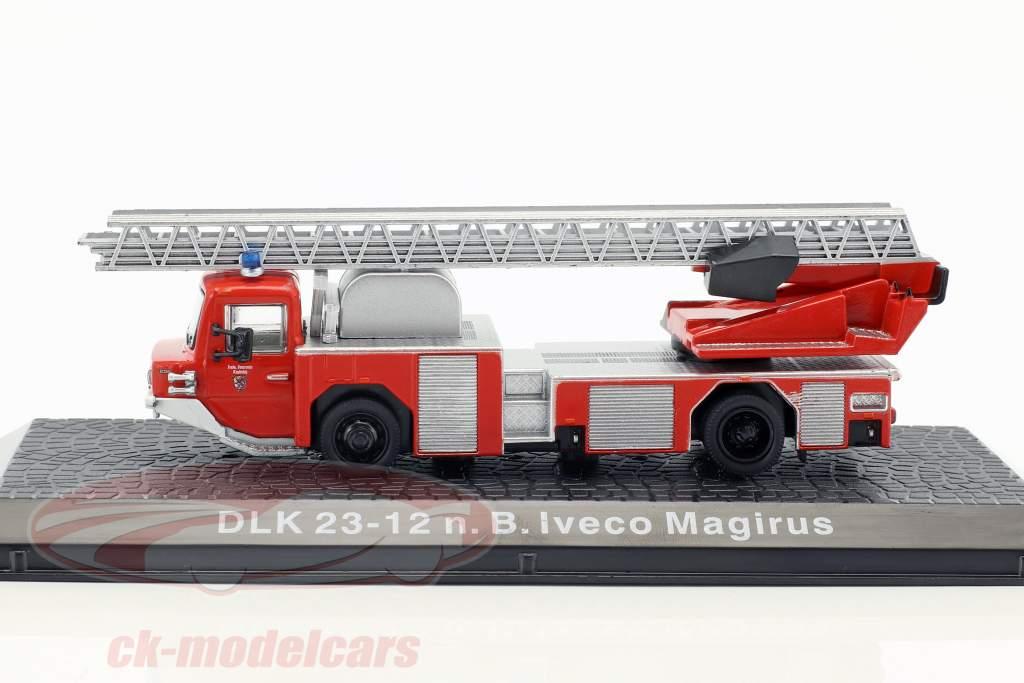 Iveco Magirus DLK 23-12 N.B. année de construction 1980 pompiers Kaufering rouge 1:72 Altaya