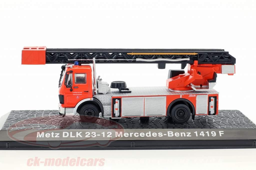 Mercedes-Benz 1419 F Metz DLK 23-12 pompiers rouge 1:72 Altaya
