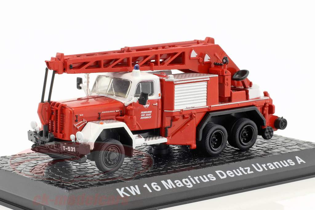 Magirus Deutz Uranus A KW 16 fire Department Innsbruck red 1:72 Altaya