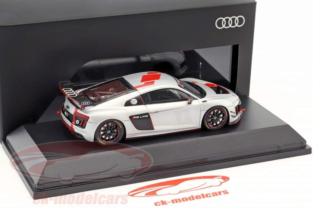 Audi R8 LMS GT4 Presentation Car silber / schwarz / rot 1:43 Spark