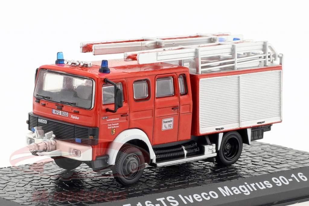 Iveco Magirus 90-16 LF 16-TS Feuerwehr Kaufbeuren rot 1:72 Altaya
