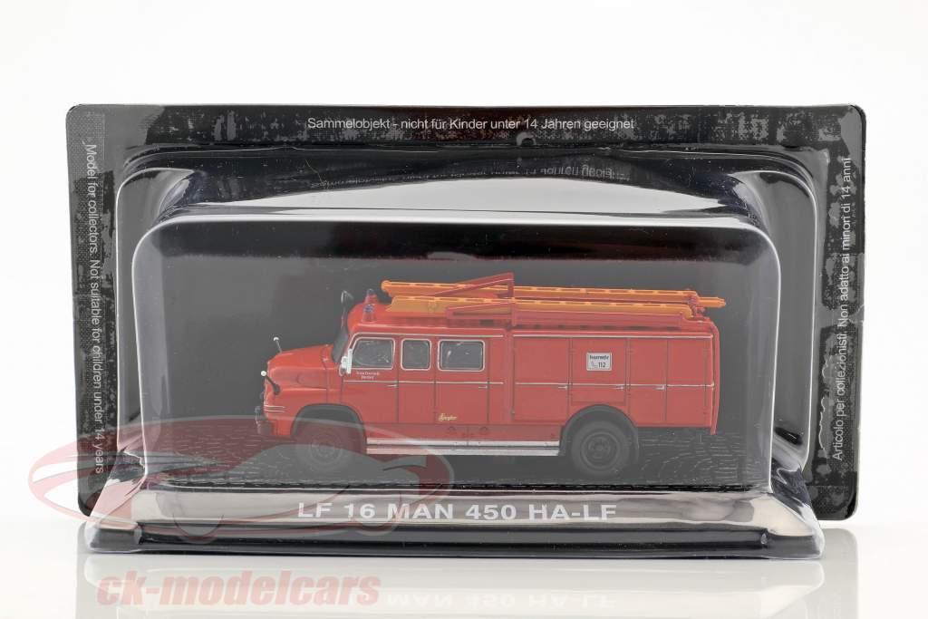 MAN 450 HA-LF LF16 fire Department red 1:72 Altaya
