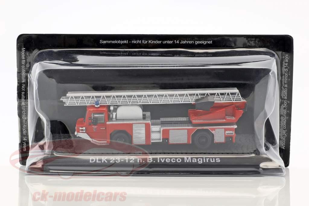 Iveco Magirus DLK 23-12 N.B. ano de construção 1980 bombeiros Kaufering vermelho 1:72 Altaya