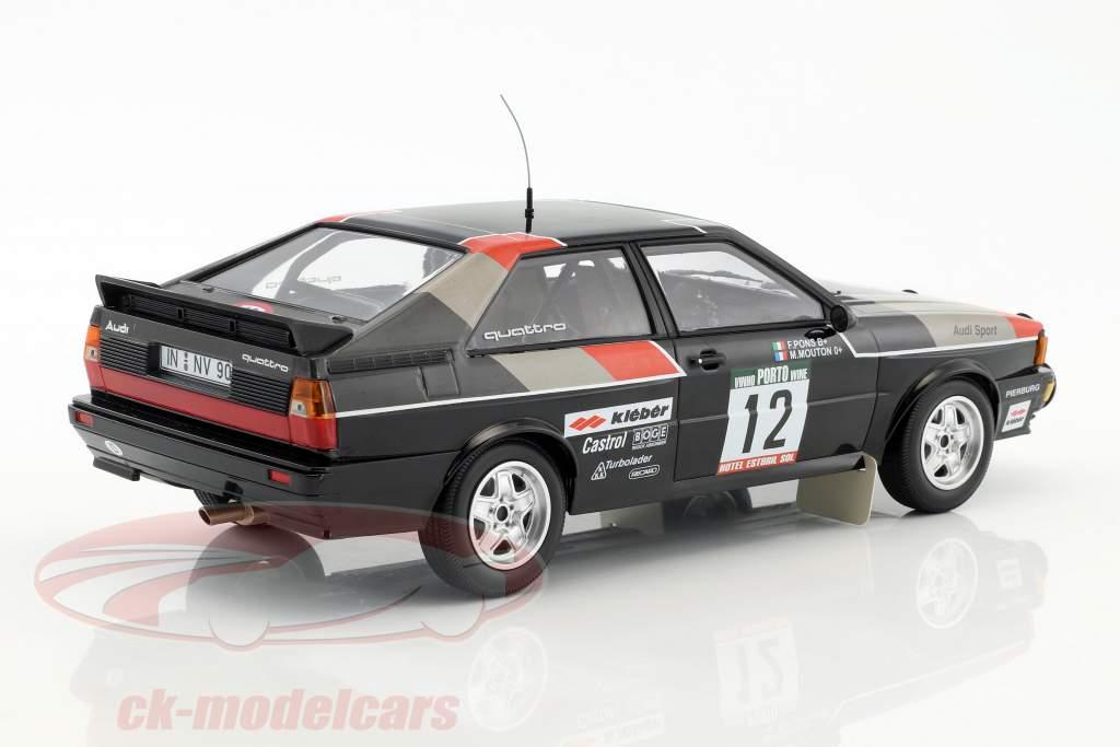 Audi Quattro #12 Rallye de Portugal 1981 Mouton, Pons 1:18 Minichamps