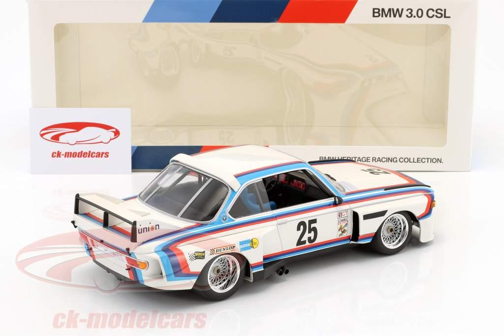 BMW 3.0 CSL #25 winnaar 12h Sebring IMSA 1975 Redman, Moffat, Posey, Stuck 1:18 Minichamps