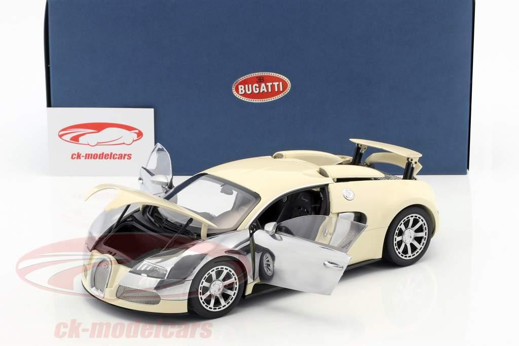 Bugatti Veyron EB 16.4 Jaar 2009 Wit 1:18 AUTOart
