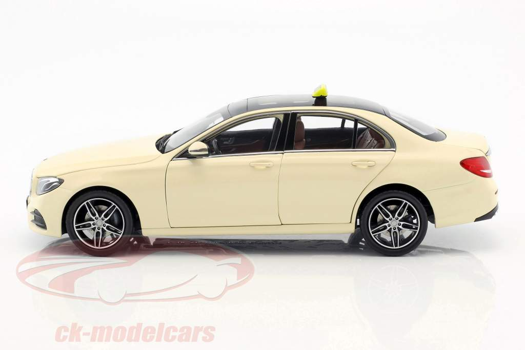 Mercedes-Benz E-Class taxi (W213) AMG Line light ivory 1:18 iScale