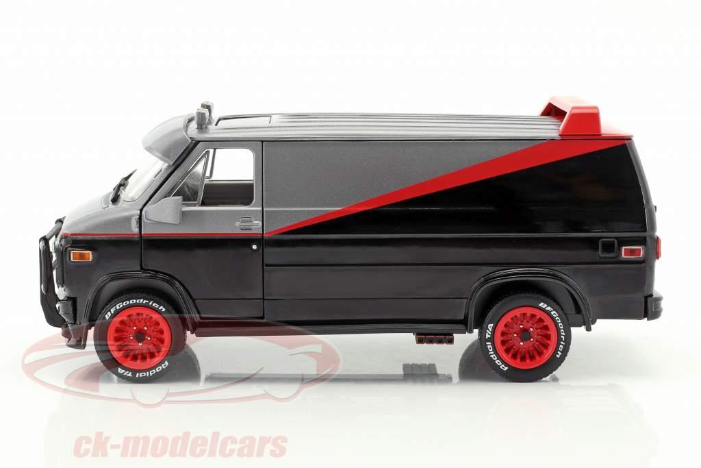 B.A.'s GMC Vandura año de construcción 1983 series de televisión The A-Team (1983-87) negro / rojo / gris 1:24 Greenlight