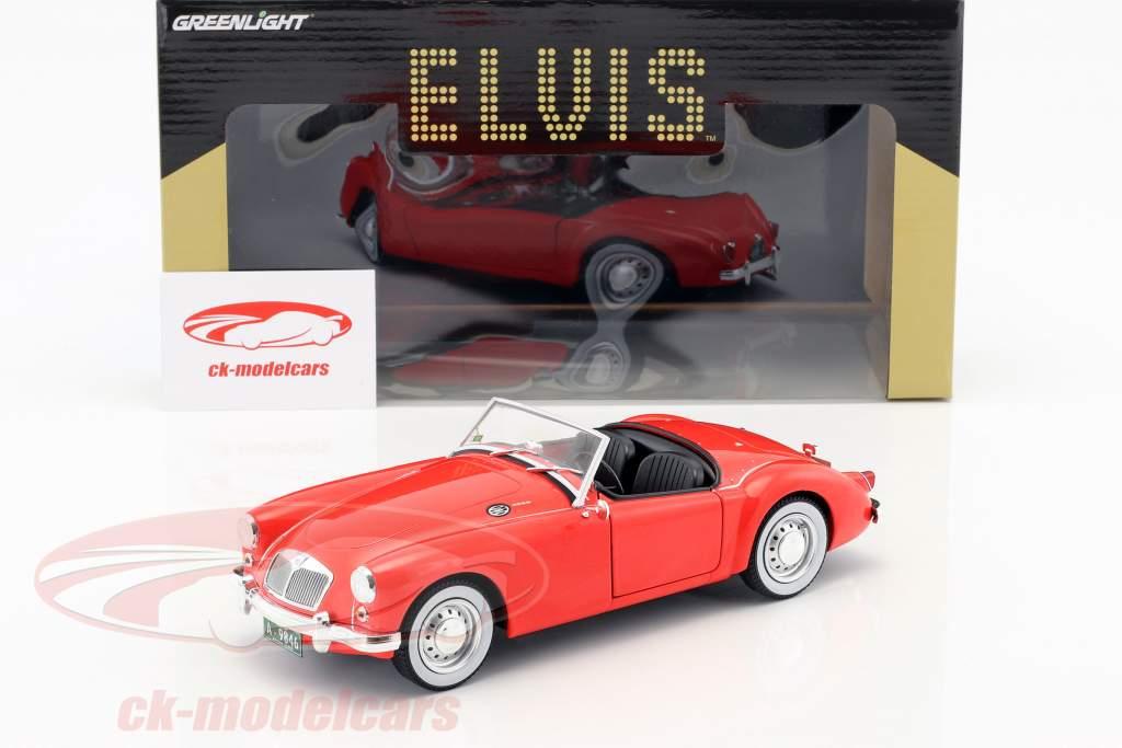 Greenlight 1 18 Mg A 1600 Roadster Mki Year 1959 Elvis Presley Movie Blue Hawaii 1961 Red 13524 Model Car 819725022811