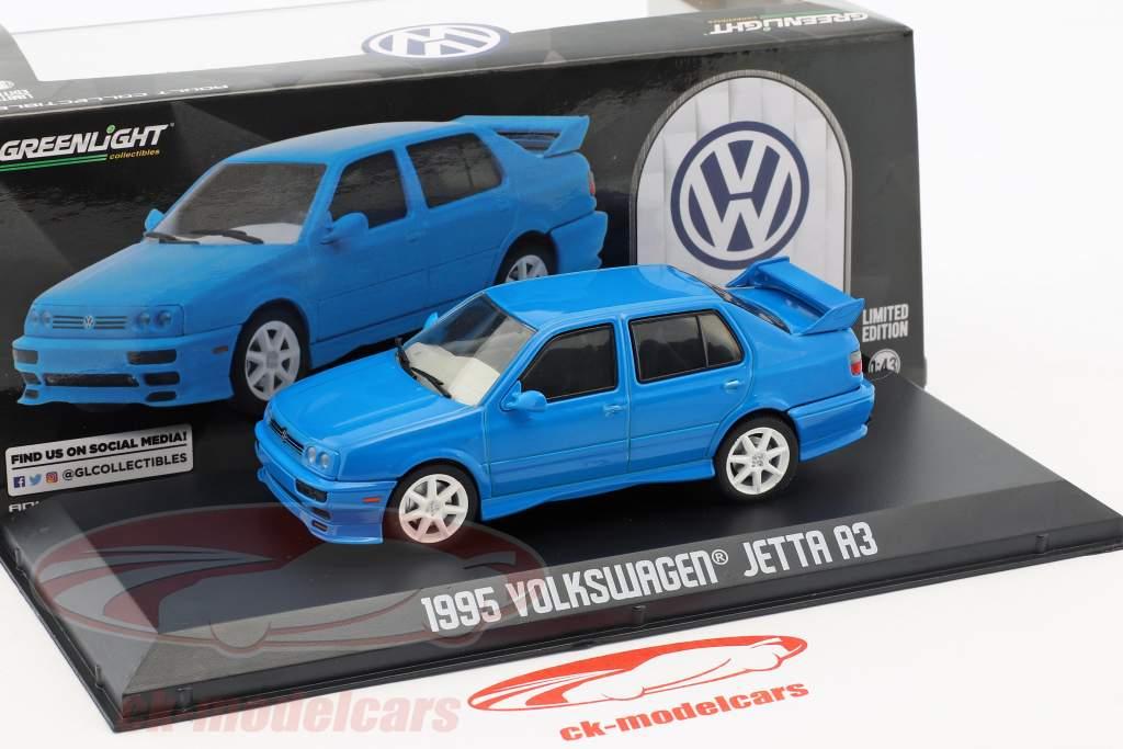 Volkswagen VW Jetta A3 Bouwjaar 1995 blauw 1:43 Greenlight