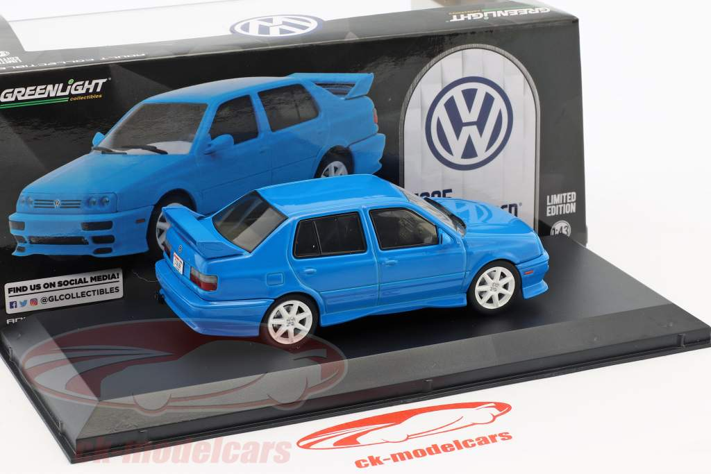 Volkswagen VW Jetta A3 Opførselsår 1995 blå 1:43 Greenlight