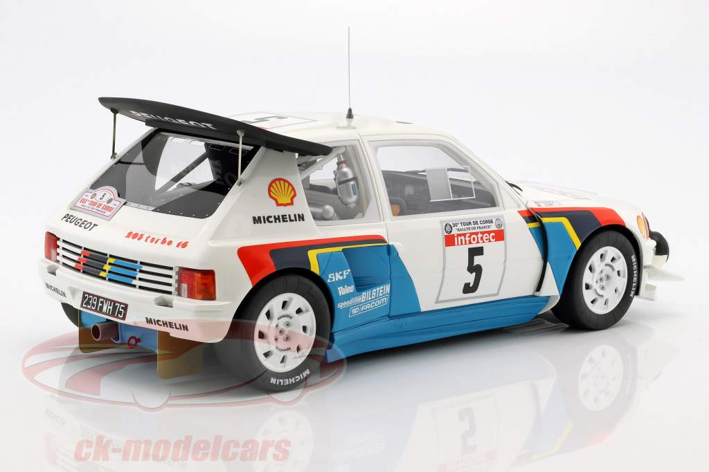 Peugeot 205 T16 Evo2 #5 vincitore Rallye Tour de Corse 1986 Saby, Fauchille 1:12 OttOmobile