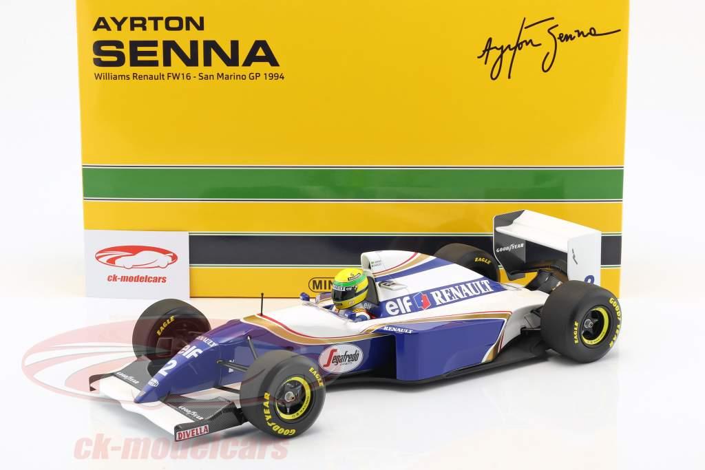 Ayrton Senna Williams FW16 #2 San Marino GP formula 1 1994 1:12 Minichamps