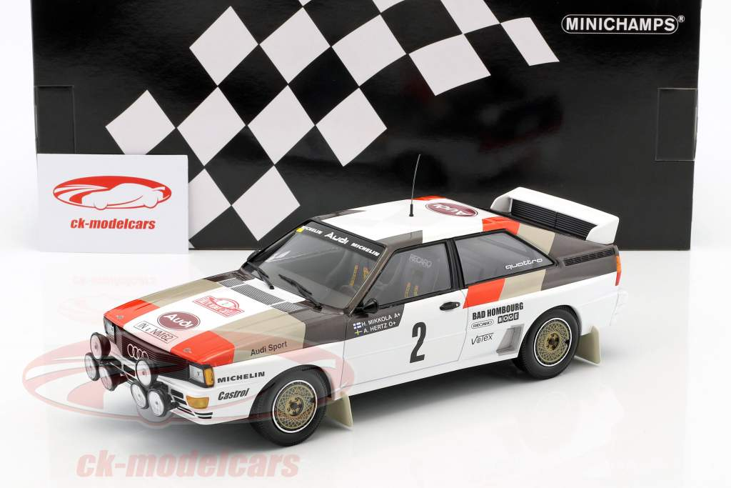 Audi Quattro A1 #2 4 Rallye Monte Carlo 1983 Mikkola, Hertz 1:18 Minichamps