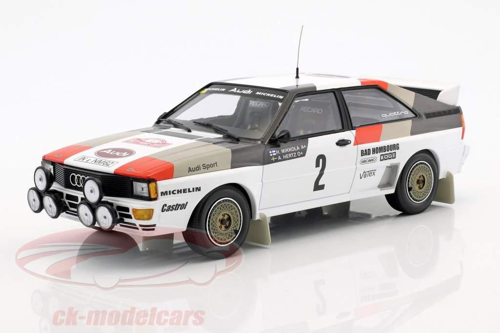 Audi Quattro A1 #2 4th Rallye Monte Carlo 1983 Mikkola, Hertz 1:18 Minichamps