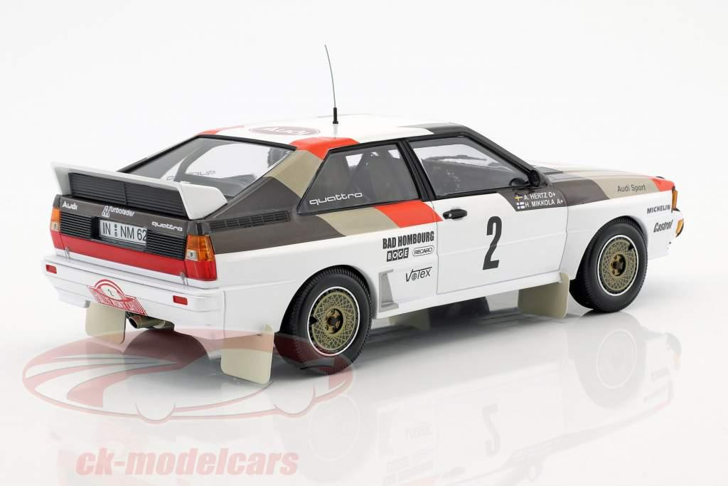 Audi Quattro A1 #2 4e Rallye Monte Carlo 1983 Mikkola, Hertz 1:18 Minichamps