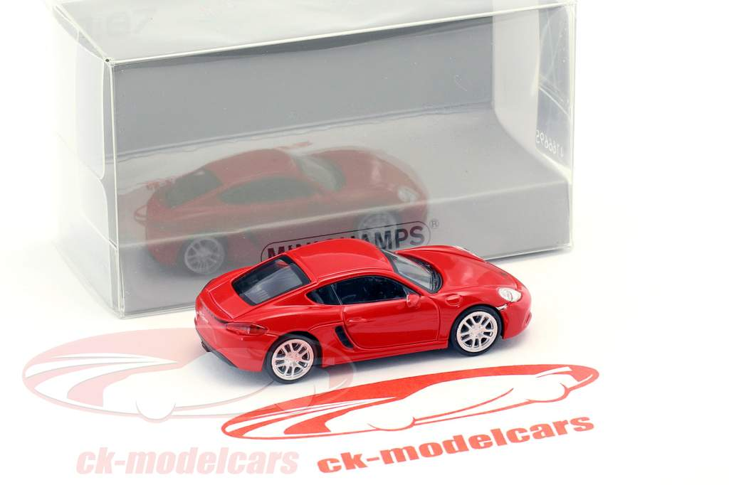 Porsche 718 Cayman year 2016 red 1:87 Minichamps
