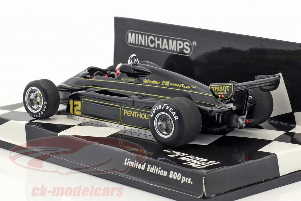 Nigel Mansell Lotus 91 #12 Formel 1 1982 1:43 Minichamps
