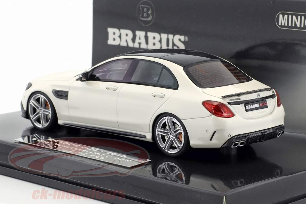 Brabus 600 based on Mercedes-Benz AMG C 63 S year 2015 white 1:43 Minichamps