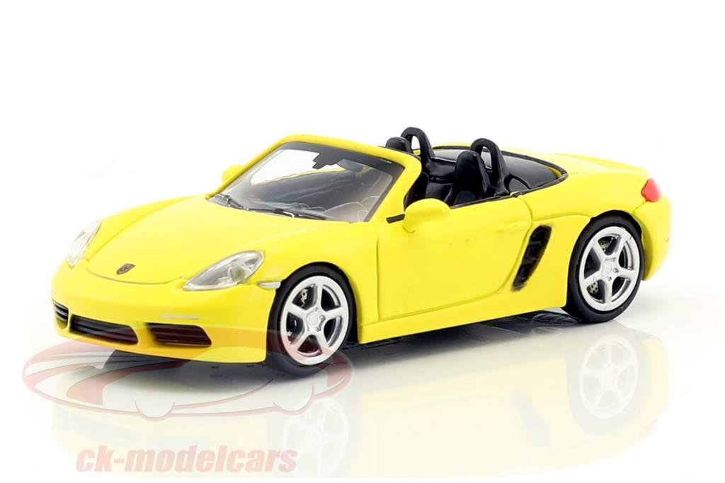 Porsche 718 Boxster année de construction 2016 jaune 1:87 Minichamps
