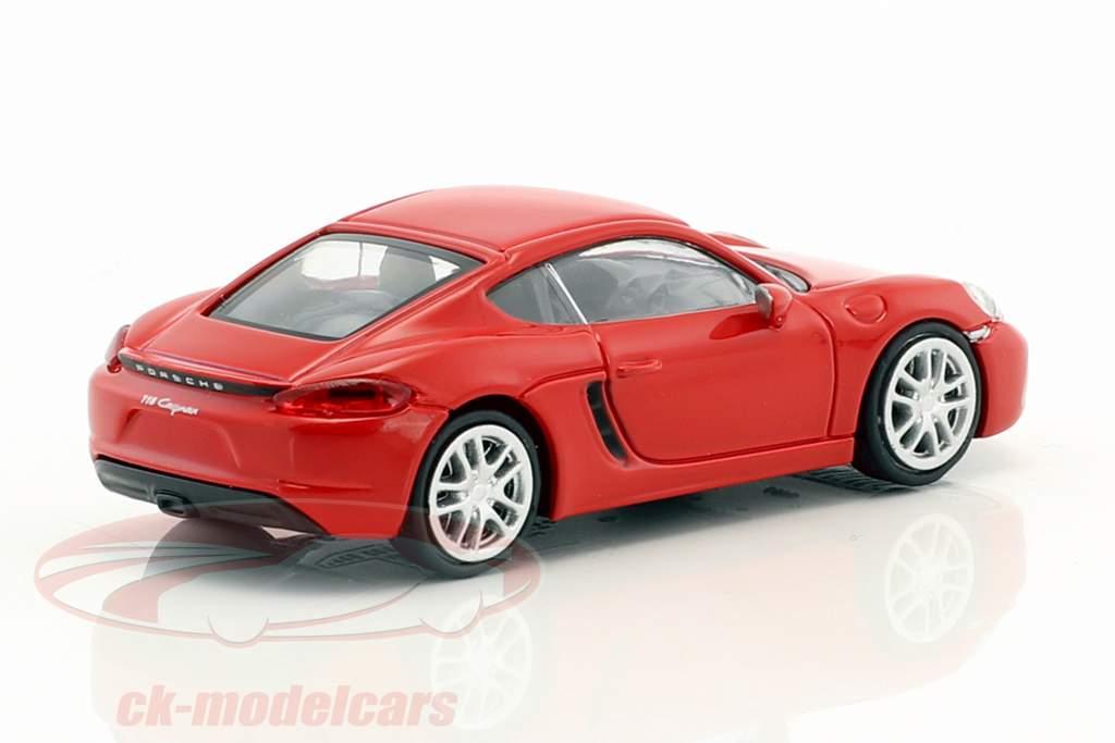 Porsche 718 Cayman Baujahr 2016 rot 1:87 Minichamps
