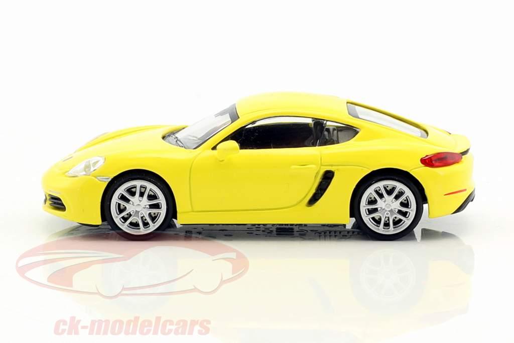 Porsche 718 Cayman anno di costruzione 2016 giallo 1:87 Minichamps