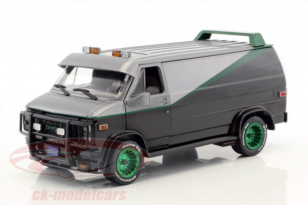 B.A.'s GMC Vandura year 1983 TV series The A-Team (1983-87) green version 1:24 Greenlight