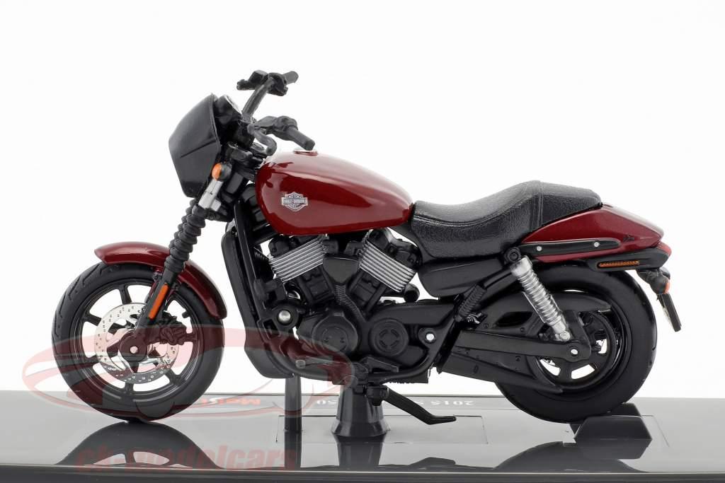 Harley-Davidson HD 15 Street 750 année de construction 2015 noir / rouge 1:18 Maisto