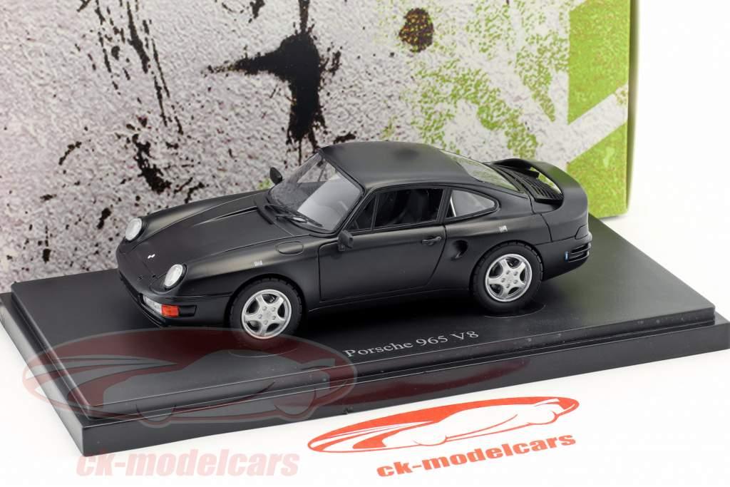 Porsche 965 V8 prototype year 1988 black 1:43 AutoCult