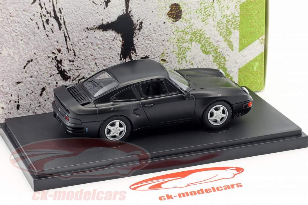 Porsche 965 V8 prototipo anno di costruzione 1988 nero 1:43 AutoCult