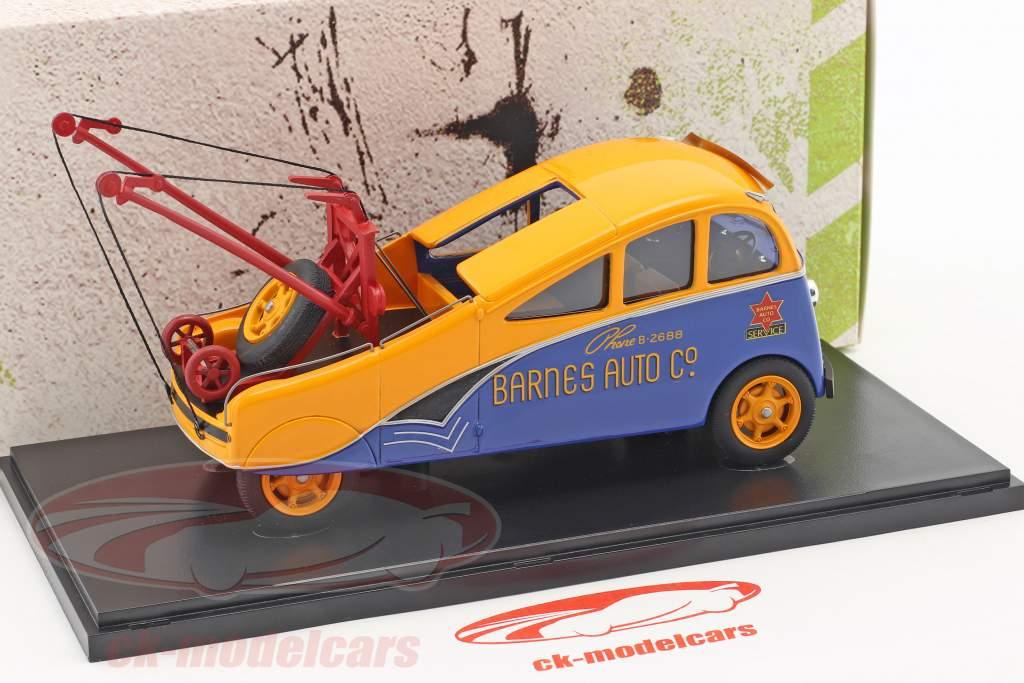 Barnes Streamlined Wrecker year 1938 orange / blue 1:43 AutoCult