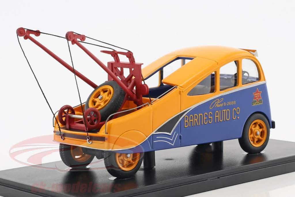 Barnes Streamlined Wrecker anno di costruzione 1938 arancione / blu 1:43 AutoCult