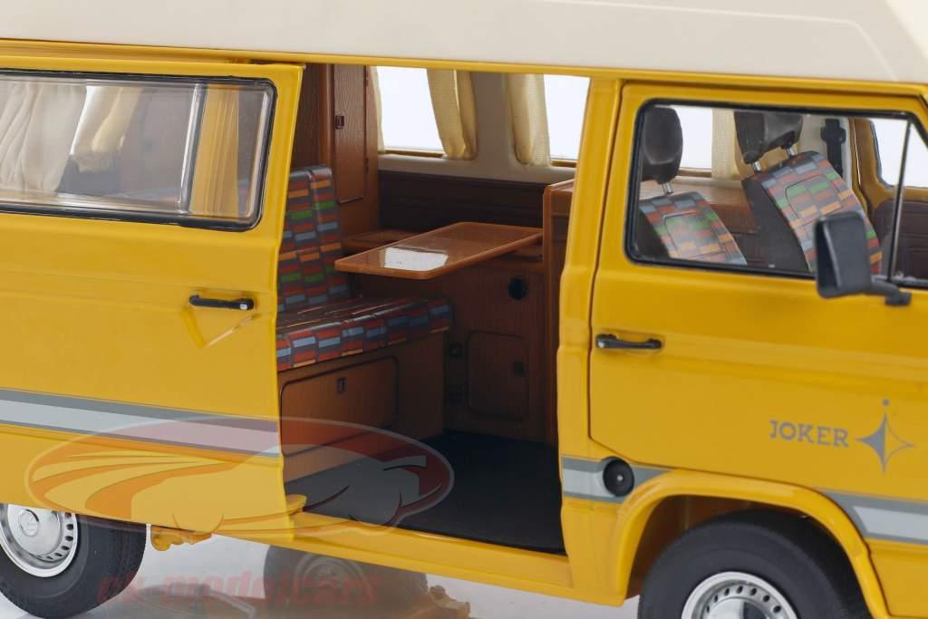 Volkswagen VW T3 Joker camper with high roof yellow 1:18 Schuco