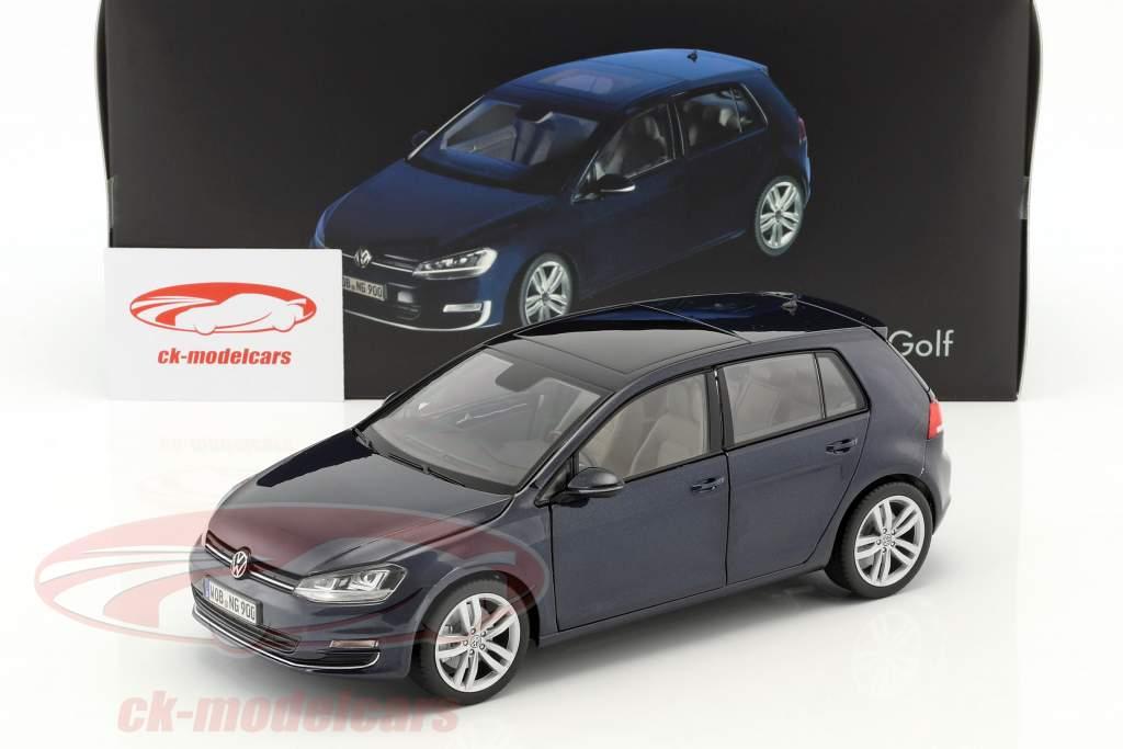 Volkswagen VW Golf VII Baujahr 2013 nachtblau 1:18 Norev