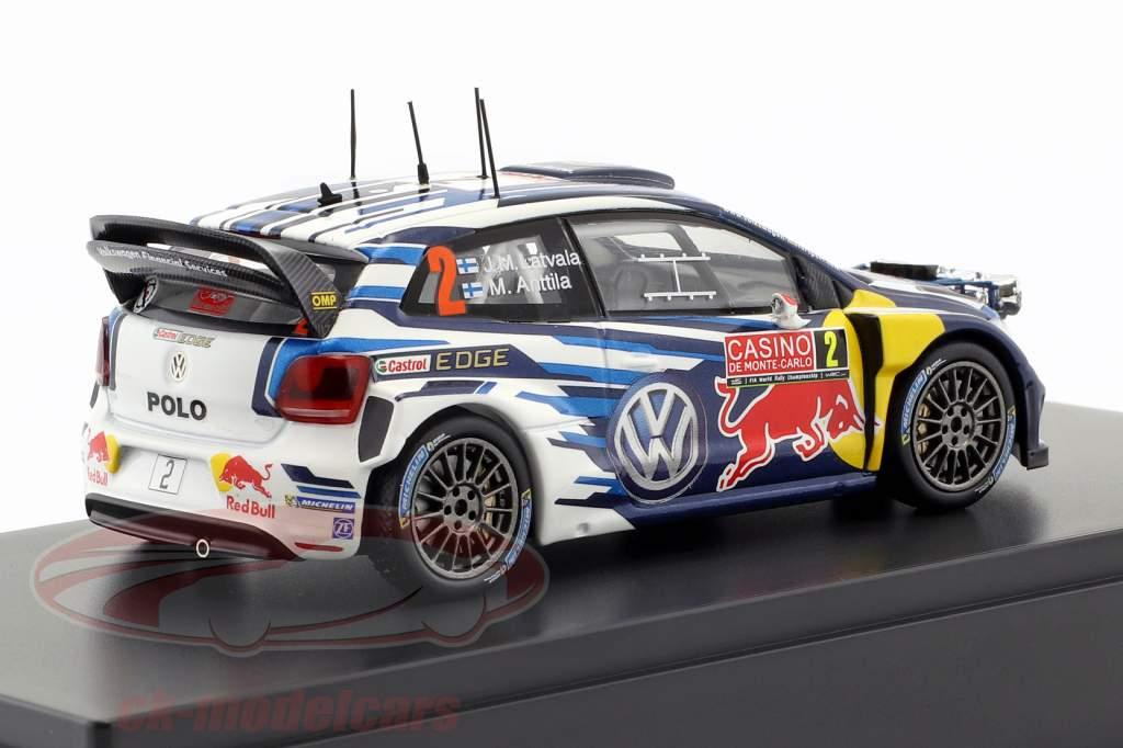 Volkswagen VW Polo R WRC #2 WRC 2015 Latvala, Anttila 1:43 Spark