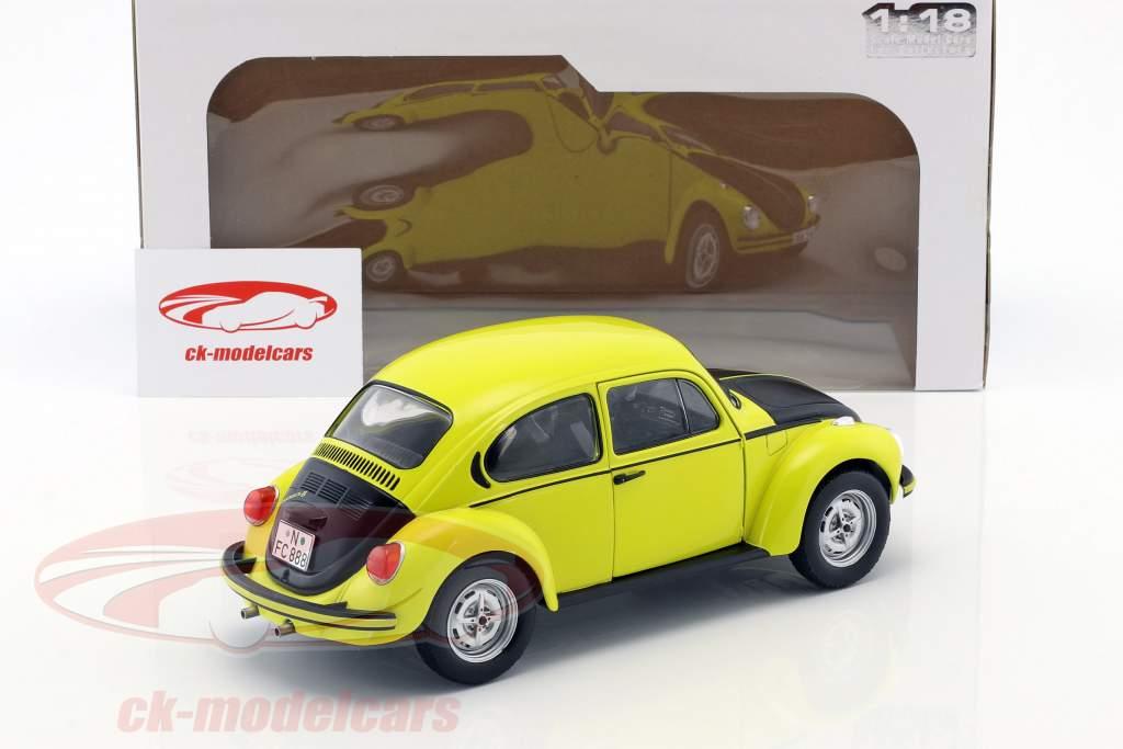 Volkswagen VW Käfer 1303 GSR Bouwjaar 1973 geel / zwart 1:18 Solido