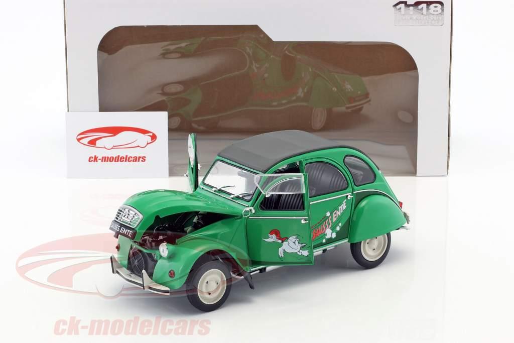 Citroen 2CV Sausss Ente year 1987 green / gray 1:18 Solido